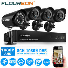 8CH 1080N AHD DVR 1500TVL Home CCTV Camera Security System Kit IR Night Vision