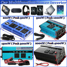 Portable Car LED Power Inverter 4000W WATT DC 12V to AC 110V Charger Converter