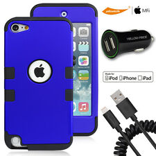 iTouch 5th Cool Unique Case,2-Port Car Charger,MFI Flexible Lightning Cable Cord