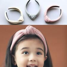 Fashion Bowknot Solid Width Hair Hoop Hair Accessories For Baby Girls OK