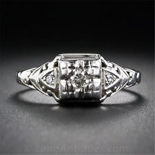 0.8CT White Topaz Women 925 Silver Ring Wedding Jewelry Engagement Size 6-10
