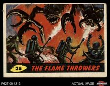 1962 Topps / Bubbles Inc Mars Attacks #35 The Flame Throwers  VG/EX