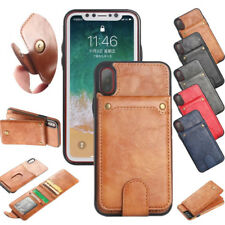 Unique Removable Flip Leather Card Slot Photo Stand Back Cover Case For iPhone X