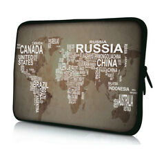 """World Map 10"""" Inch 10.1"""" Laptop Bag Sleeve Case Cover For 9.7"""" iPad Air Ipad Pro"""