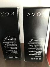 AVON (2) Ideal Flawless Invisible Coverage Liquid Foundation, Choose Your Shade!