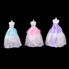 Wedding Party Mini Gown Handmade Dress Fashion Clothes For Barbie Doll 3 Colors.