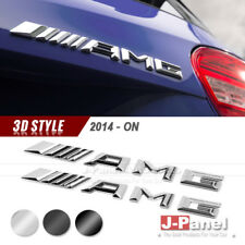 PAIR AMG REAR TRUNK LETTER EMBLEM BADGE MERCEDES BENZ A B C E GL S CLASS 2014-ON