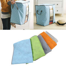 US Bamboo Charcoal Clothes Storage Bag Organizer Folding Box Quilt Container NEW