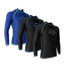 Men Rash Guard Long Sleeve Shirt Wetsuit Top Surf Swimming Diving Snorkeling