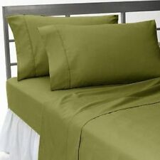 1000 TC 100% Egyptian Cotton Bedding Items RV & All Sizes Moss Solid/Stripe