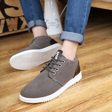 1 pair Casual Shoes Men Spring Autumn Waterproof Solid Lace-up Man Fashion