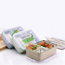 2 Tier Lunch Box Bento Box Picnic School Food Container Lunchbox Bag Compartment