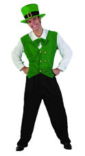 Adults Mens Leprechaun St Patricks Day Irish Man Costume Hat Fancy Dress Outfit