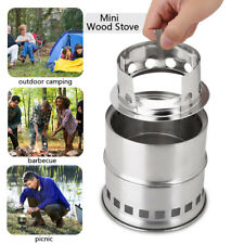 Cooking Stove Stainless Steel Wood Alcohol Burning Stove Backpacking Equipment