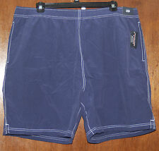 Roundtree & Yorke NWT Mens Swimsuit Trunks - Activewear Shorts, 2X, 3X, 4X, Blue