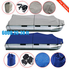 NEW 600D 25-28 Ft Waterproof Heavy Duty Fabric Trailerable Pontoon Boat Cover OY