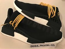 ADIDAS NMD HUMAN RACE HU PHARRELL PW UK 4 5 6 7 8 9 10 11 12 BLACK WHITE BOOST
