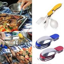 Outdoor Camping Portable Set Tableware Fork Knife Stainless Steel Folding