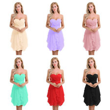 Women Short Dress Prom Evening Party Cocktail Bridesmaid Wedding Dance Gown