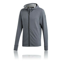 adidas Mens Climacool Work Out Hoodie Grey Sports Gym Full Zip Hooded Breathable