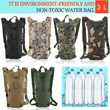 US Outdoor Hydration Backpack 3L Bladder Water Bag Hunting Climbing Hiking OY