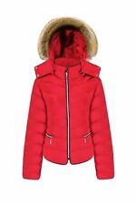 Womens Ladies Plus Size Quilted Padded Bubble Puffer Jacket Fur Hood Puffa Coat