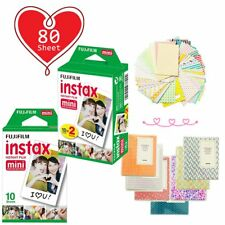 80 Sheet - Fujifilm Instax Mini White Film for Fuji Mini 9 8 90 70 Polaroid Xmas