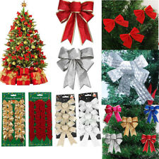 Bows Christmas Tree Decorations Xmas Bowknot Party Garden Festival Ornaments