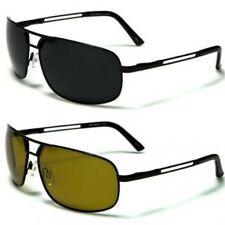Mens Polarized Lens Designer Metal Aviator Golf Black UV400 Sunglasses 3901 New