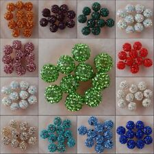 h2257-2268 Wholesale Crystal Disco Ball Spacer Loose Beads Jewelry Findings