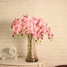 Artificial Silk Flower Butterfly Orchid Home Wedding Phalaenopsis Bouquet Decor