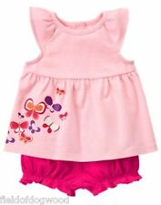 NWT Gymboree Sunset glow Butterfly bloomer set 3 6 12 18 24 M Baby girls Toddler