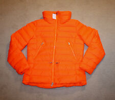 NEW Ralph Lauren RLX Womens Down Filled Logo Quilted Orange Jacket S M L XL