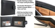 RFID Security Lined Leather Wallet. Quality Full Grain Cow Hide Leather. 11021.