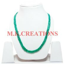 3-4MM Natural Green Onyx 2 Strand Faceted Beaded Multi Strand Beads Necklace