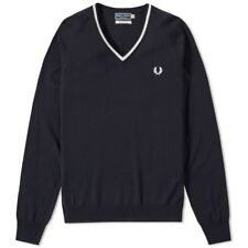 Fred Perry Reissues Merino Tipped V-Neck Jumper K5151 608 Jersey
