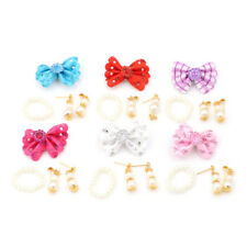 1 Set Jewelry Pearl Necklace Earrings for Barbie Dolls Plastic Accessories