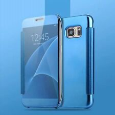 Smart Plating Mirror Flip Case Cover with Sleep Wake For Samsung Galaxy S7