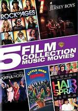 5 Film Collection: Music Movies (DVD, 2016) Brand New