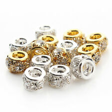 20Pcs Crystal Loose Spacer Rondelle Beads Jewellery Findings Making 10mm