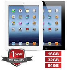 "APPLE iPad 3 3rd Gen Black White 16 32 64GB WiFi Only 9.7"" Retina Screen Tablet"