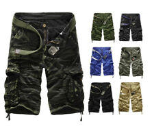 Fashion Mens Cargo Pants Baggy Shorts Casual Military CAMO Combat Army Trousers