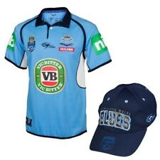 NSW Blues State of Origin Mens Classic Jersey and Cap BNWT NRL Rugby Clothing