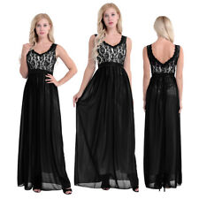 Long Women Chiffon Maxi Formal Evening Party Dresses Bridesmaid Ball Gown Prom
