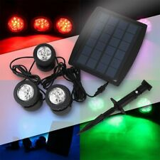 RGB White Solar Powered LED Outdoor Spot Light Garden Landscape Yard Lawn Lamp A