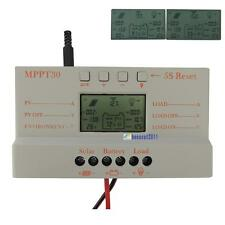 LCD 10A 20A 30A MPPT Solar Panel Battery Regulator Charge Controller 12V/24V QW