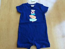 NWT Gymboree baby Boy Gazebo Party Navy Blue Romper 0-3,6-12 Months