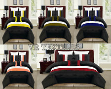 3PC/5PC Striped Design Satin Duvet Cover Set In Many Colors/Sizes