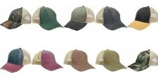 ADAMS Cap Men's 6-panel Pigment-Dyed Distressed Trucker, BASEBALL HAT, ol102