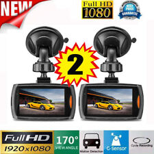 2X 1080P HD Car Dash DVR Vehicle Camera Video Recorder Cam Night Vision G-Sensor